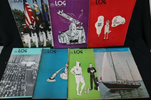 7x The Log magazines of US Naval Academy 1962-63~Lot of Seven