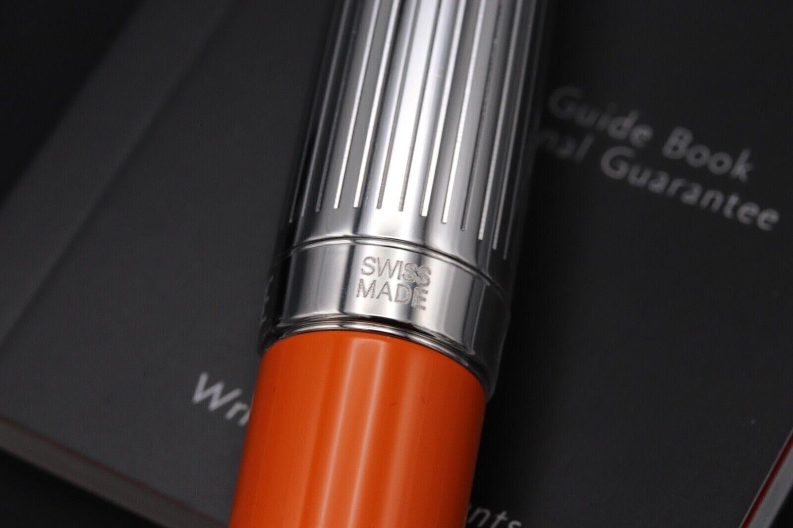 Caran d'Ache Leman Bicolor Saffron Fountain Pen 5