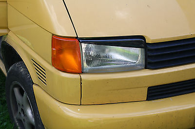 VOLKSWAGEN T4 VW HEADLIGHT BROWS EYELIDS EYEBROWS ABS PLASTIC TUNING