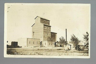 Plainville KANSAS RP 1915 MILL & ELEVATOR COMPANY nr Hays Stockton Russell