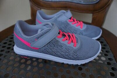 NIKE 3 Fury 2 Girls Athletic Running Shoes Tennis training 35 gray pink 820288