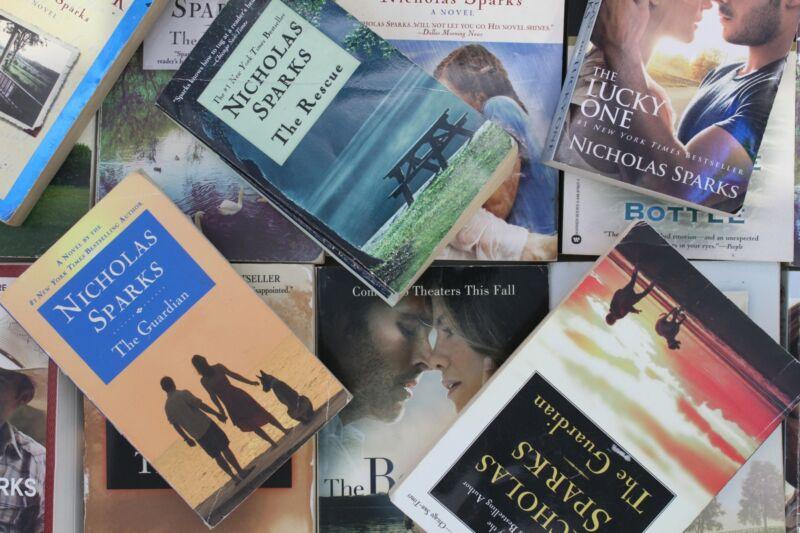 Lot of 5 Nicholas Sparks Romance Paperback Mass Market Books MIX