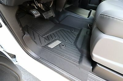 2015 2017 GMC Sierra GM OEM Front All Weather Floor Mats NEW   Black