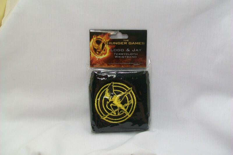 The Hunger Games Black & Yellow MockingJay Logo Terrycloth Wristband *New