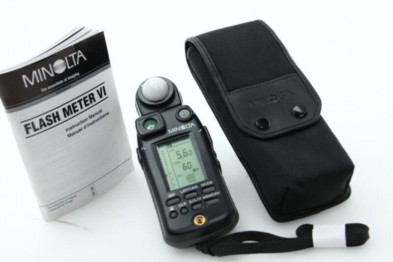 Minolta Flash Meter VI Digital Ambient & Flash + Case instructions tested 392082