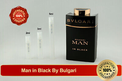 Bvlgari Man in Black 2ml 3ml 5ml Decant Sample Atomizer Vial Spray AUTHENTIC