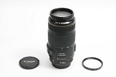 Canon EF 70-300mm IS USM Lens EXCELLENT IMAGE STABILIZER EOS DIGITAL + BONUS UV