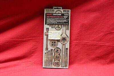 Vintage Sears Craftsman 25 Piece Tap And Hex Die Set Standard Thread 952342 Usa