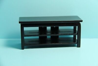 Dollhouse Miniature Black TV Stand / Cabinet with Shelves ~ T5978 for sale  Shipping to India