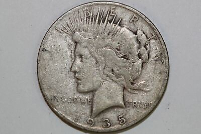 For Sale Grades Very Good 1935 San Francisco Mint 90% Silver Peace Dollar PDX936