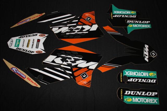 KTM 2007-2010 SX SXF EXC FACTORY MX GRAPHICS KIT DECALS KIT STICKERS KIT