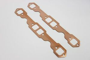 SBC Square Port Copper Header Exhaust Gaskets SB Chevy 327 305 350 383 Reusable