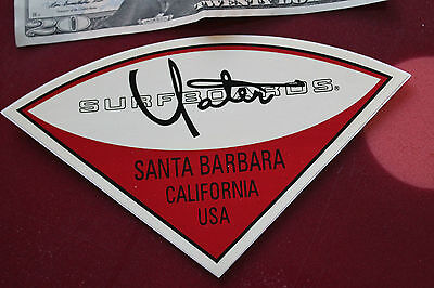 YATER SURFBOARDS Santa Barbara Surf Shop 5x7in. RED STICKER - RARE OOP SURF