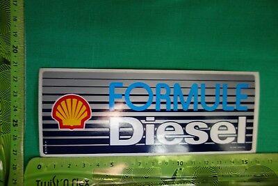 Alter Aufkleber Auto SHELL Formule Diesel