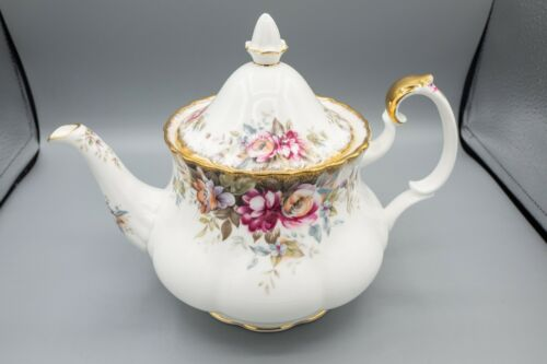 Royal Albert Autumn Roses Teapot and Lid FREE USA SHIPPING