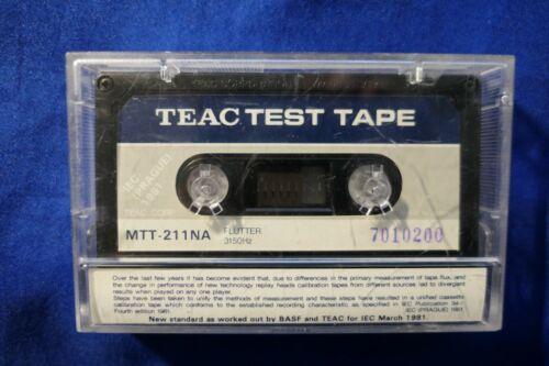 TEAC Speed & Flutter Test Tape MTT-211NA 3.15kHz New