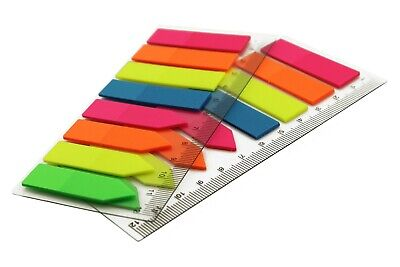 1600pcs Neon Arrow Memo Sticky Notes Sign Here Flag Tabs Classroom Supply 5 Pads