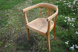 Alter Armlehnstuhl Stuhl Bauhaus Art Deco Holzstuhl