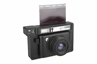 Lomo'Instant Wide Black Camera Instant Film Camera Auto Flash Photography Gift