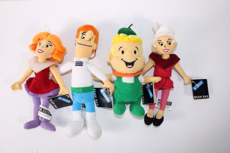 NWT Lot of 4 Jetsons Plushes Jane, Judy, George and Elroy - As Shown
