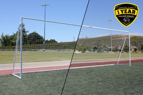 Value 24x8 Regulation Wuxi Soccer Goal, Interchangeable Round/Square Corner Face