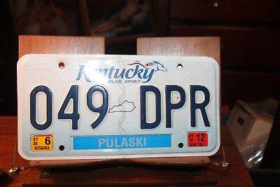 Kentucky License Plate  2012 Pulaski County 049 DPR
