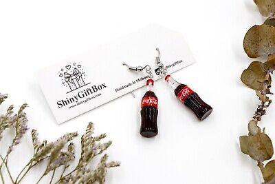 Novelty Miniature Food / Drink Resin Earrings - Coke Bottle Coca Cola