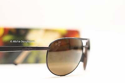 New MAUI JIM Aviator Sunglasses LEEWARD COAST Chocolate/HCL Bronze  (Maui Jim Pilot Polarized Sunglasses)