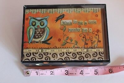 NEW 12 Lang Halloween note cards decorated env Who's in for a little spooky fun?