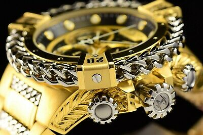 Invicta 53mm Reserve Bolt Hercules Swiss Gold Plated Steel Black Chrono Watch