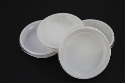 """5 lot 3.5"""" Mealworm Plastic food water dish crested gecko bearded dragon Reptile"""