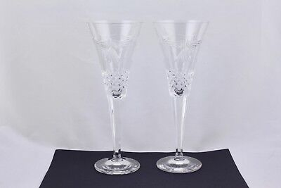 WATERFORD CRYSTAL MILLENNIUM PEACE CHAMPAGNE TOASTING FLUTES - MINT