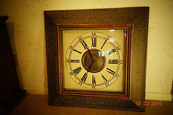 Wall Clock, 32 Roman Numbers Glass Protected Face large square numberals