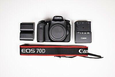 Canon EOS 70D 20.2MP Digital SLR Camera - Black (Body Only) - 8469B002
