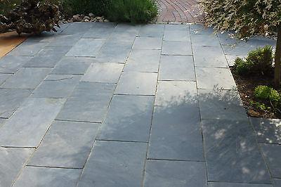 Terrassenplatten Schiefer Grau Schwarz Muster