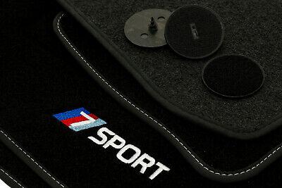 NEU Fußmatten BMW 7er E65 Velours Automatten Tuning Zierband Blau 2001-2008