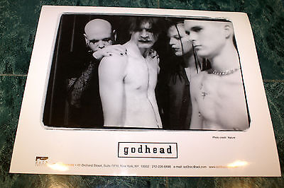 GODHEAD 8X10 OFFICIAL PROMO PICTURE 1998 VERY RARE HTF OOP NEAR MINT