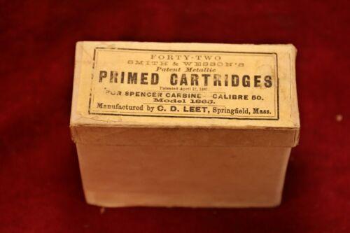 US Civil War Spencer Carbine Cartridge Box - Smith Wesson / C.D. Leet