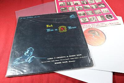 J.S. Bach  H-MOLL MESSE  Robert Shaw - RCA Victor 3 LP-Set sehr gut