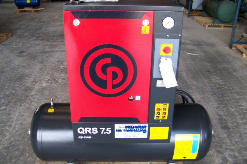 Chicago Pneumatic Qrs 7.5 Hp 1 Phase,  New  Rotary Screw Compressor