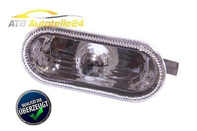 Cristal 6 Licht (1 Seitenblinker Blinkleuchte für VW T5 Polo R6 Amarok Klarglas Chromoptik NEU)