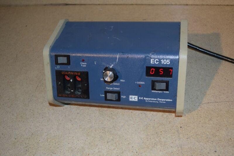 E-C APPARATUS CORP EC105 ELECTROPHORESIS POWER SUPPLY