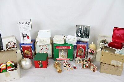 Vintage Christmas Xmas Ornament Lot Department 56 Snowbabies Snow Village Rare