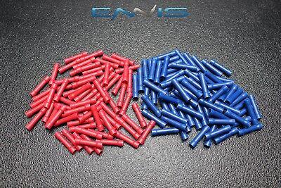 100 PK 14-16 18-22 GAUGE VINYL BUTT CONNECTORS 50 PCS EA TERMINAL BARREL SPLICE