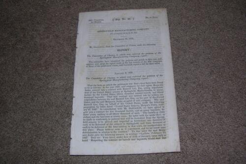 1835 Springfield MA Armory Report