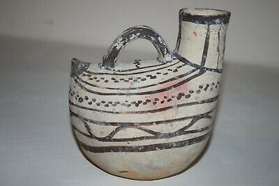GOOD ANCIENT GREEK POTTERY DAUNIAN  ASKOS 7/6th century BC
