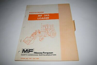 Massey Ferguson Mf 245 Loader Parts Book