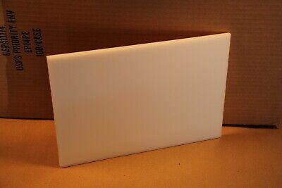 14 .250 Natural Delrin Block Acetal Sheet 8x11.5 Cnc Millstock Plastic 5604