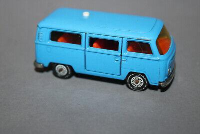 VW Bus Bulli T2 rot Modellauto Spritzguss 1:37 mit Schiebetür WELLY 1970