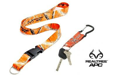 Realtree Orange Camo Strap With Quick Release Keychain & Lar